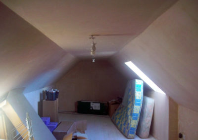 loft conversion plastering